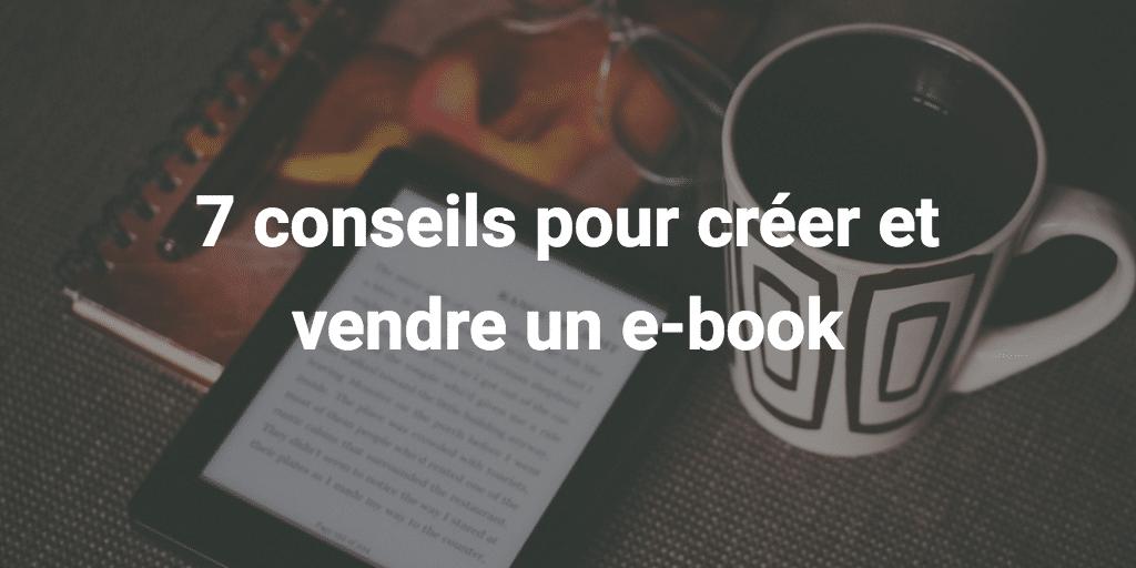 vendre un e-book