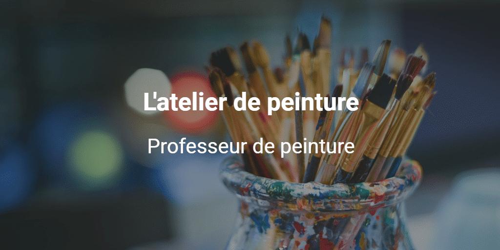 L'atelier de peinture utilise Payfacile pour la réservation de stage en ligne.